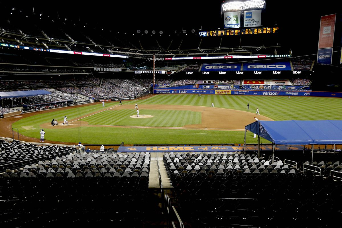A general view of game action during the game between the New York Mets and the Philadelphia Phillies at Citi Field.