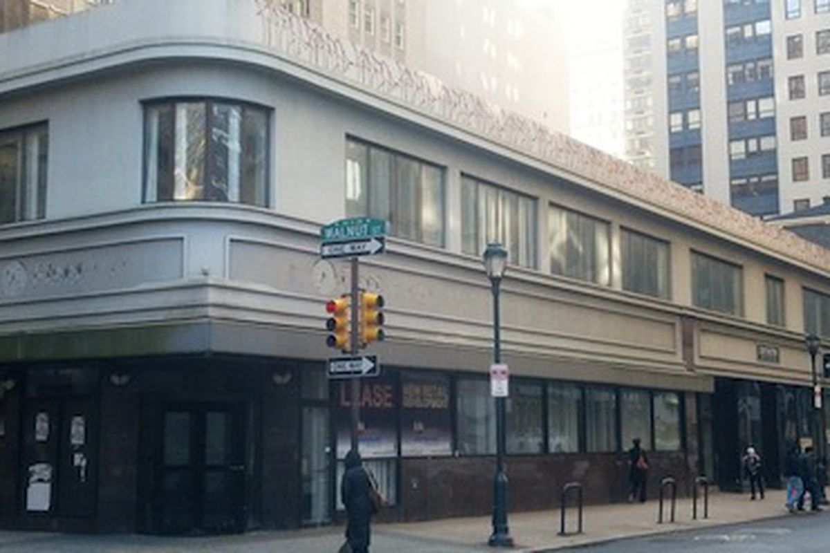 """Uniqlo is rumored to be coming to this building on Walnut. Image credit: <a href=""""http://blog.philadelphiarealestate.com/developer-gets-go-ahead-for-demolition-at-15th-and-walnut/"""">PREB</a>"""
