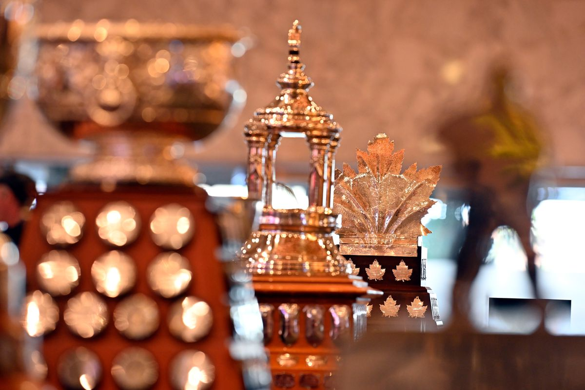 NHL Trophies Displayed At MGM Grand Hotel & Casino Ahead Of The 2019 NHL Awards