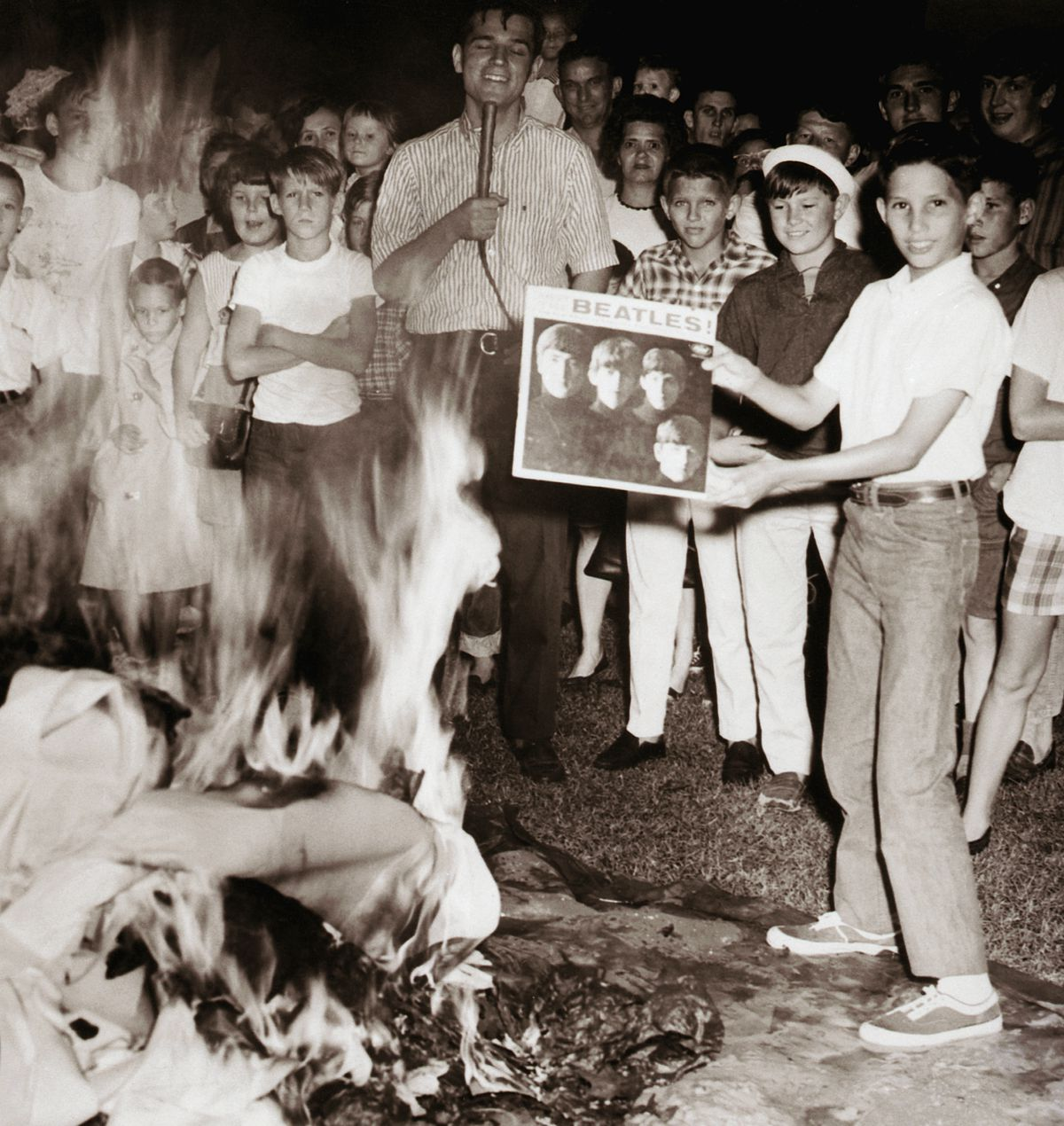 Teenagers Protest Against the Beatles