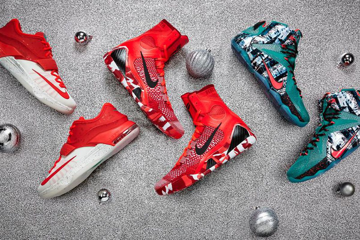 Nike releases Christmas sneakers for LeBron James, Kevin Durant ...