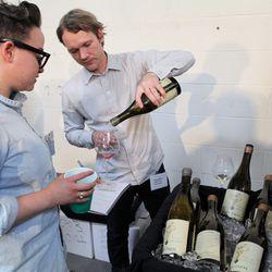 Liquid Farm pouring their wines.