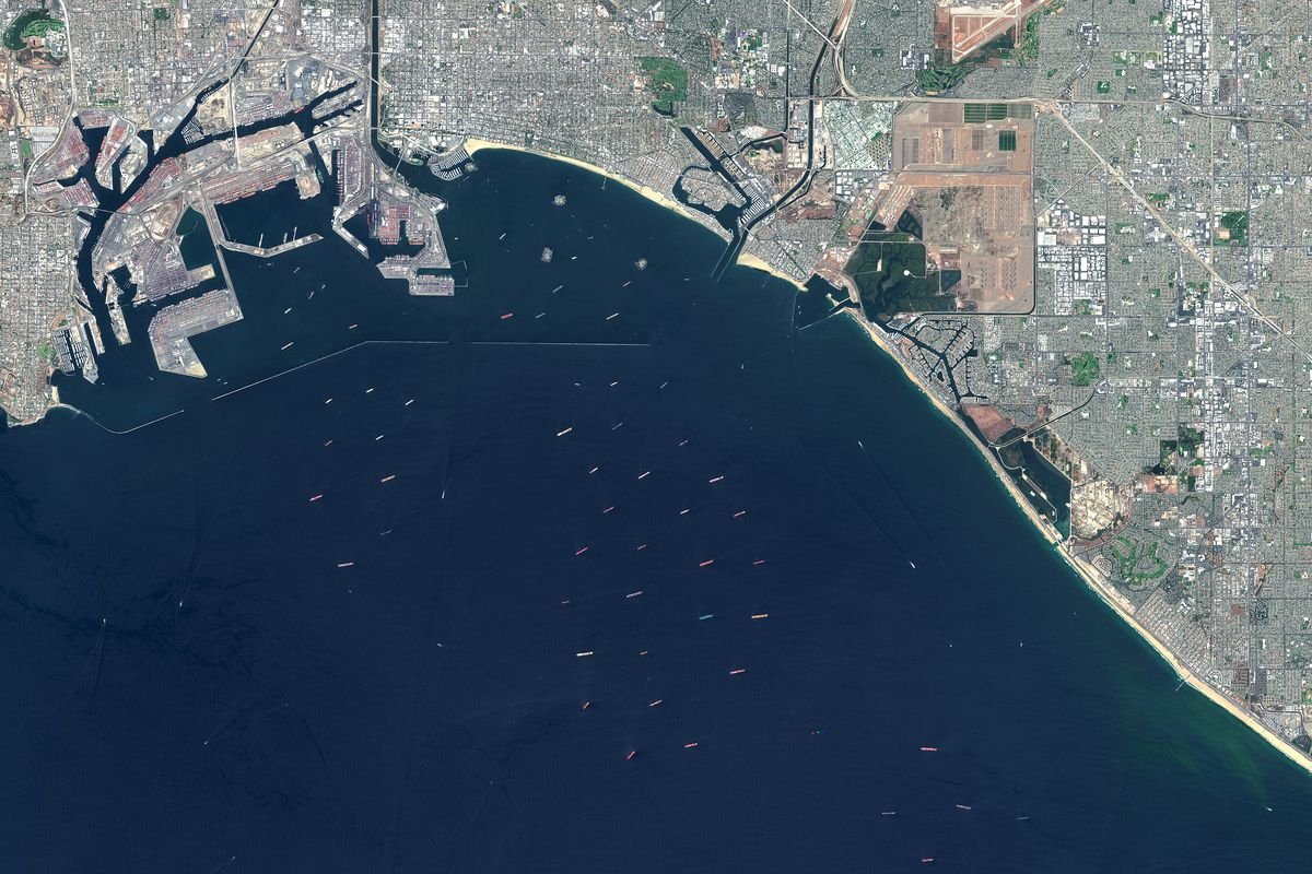Satellite Imagery of Los Angeles Port