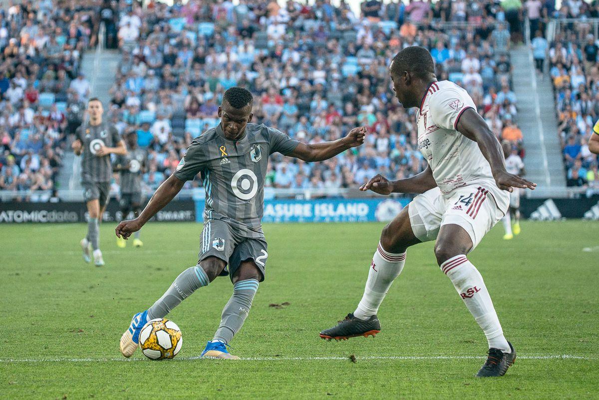 September 15, 2019 - Saint Paul, Minnesota, United States - Darwin Quintero scores a goal during an MLS match between Minnesota United and Real Salt Lake at Allianz Field