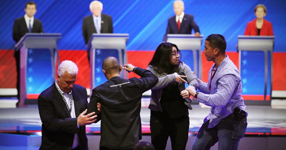 Democratic debate protesters were DACA recipients. They want action before Supreme Court rules.