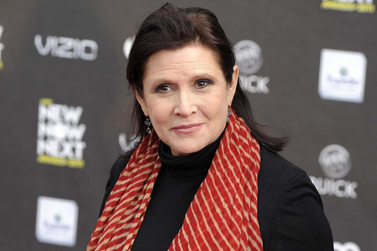 FILE - This April 7, 2011 file photo shows Carrie Fisher at the 2011 NewNowNext Awards in Los Angeles. fficials say actress Carrie Fisher died from sleep apnea and a combination of other factors, but they could not conclusively determine what caused her d