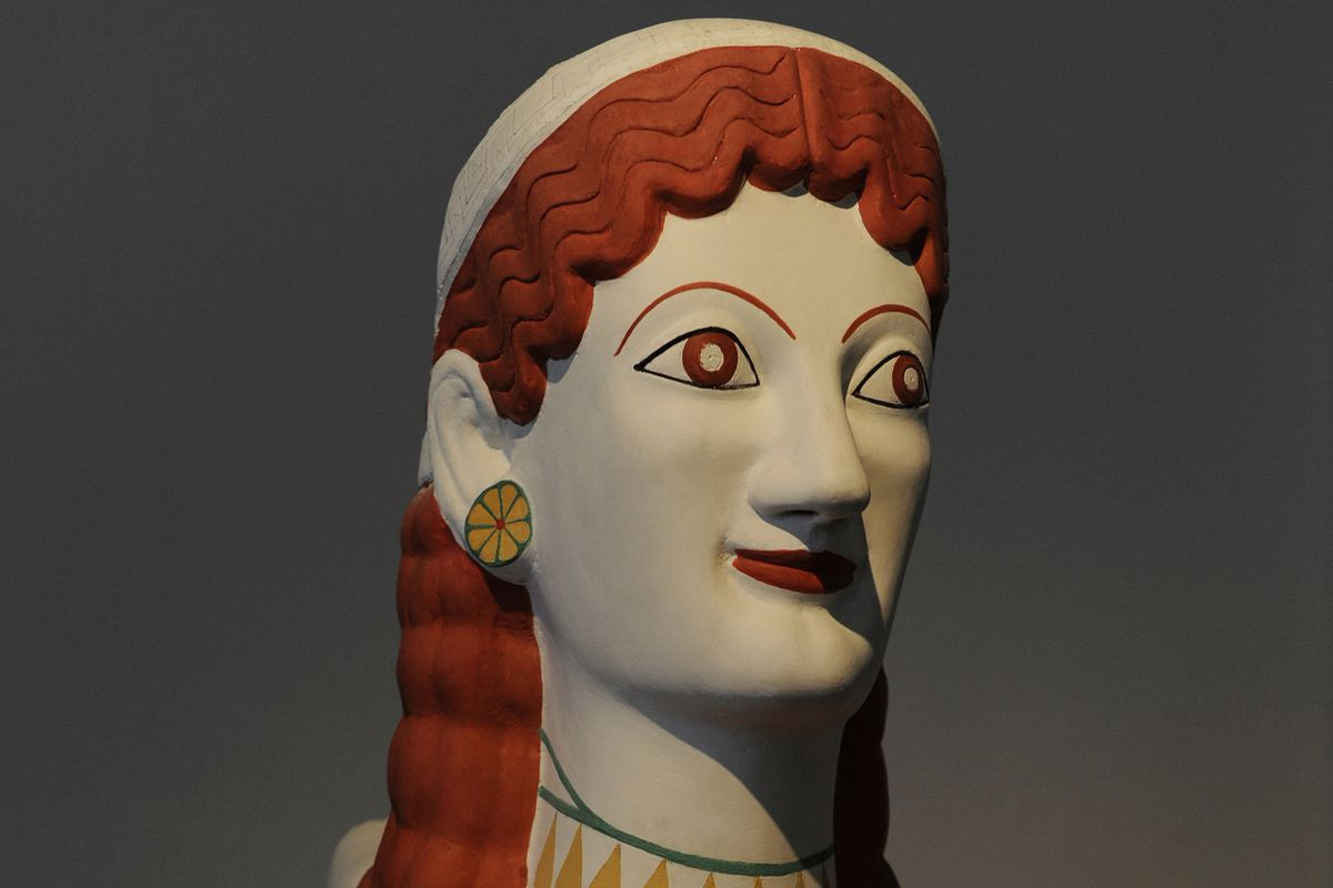 It turns out the pinnacle of civilization was pretty tacky. This is a reconstruction of what a Greek sculpture probably looked like.