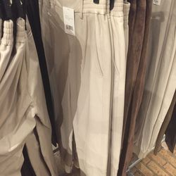 White leather pants, $199 (were $995)