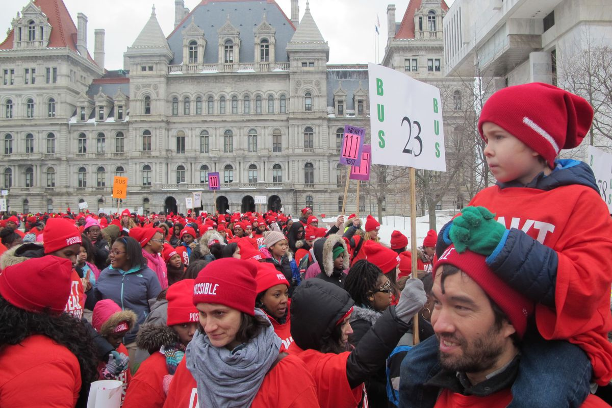 A pro-charter school rally in Albany that Families for Excellent Schools helped organize in 2015.