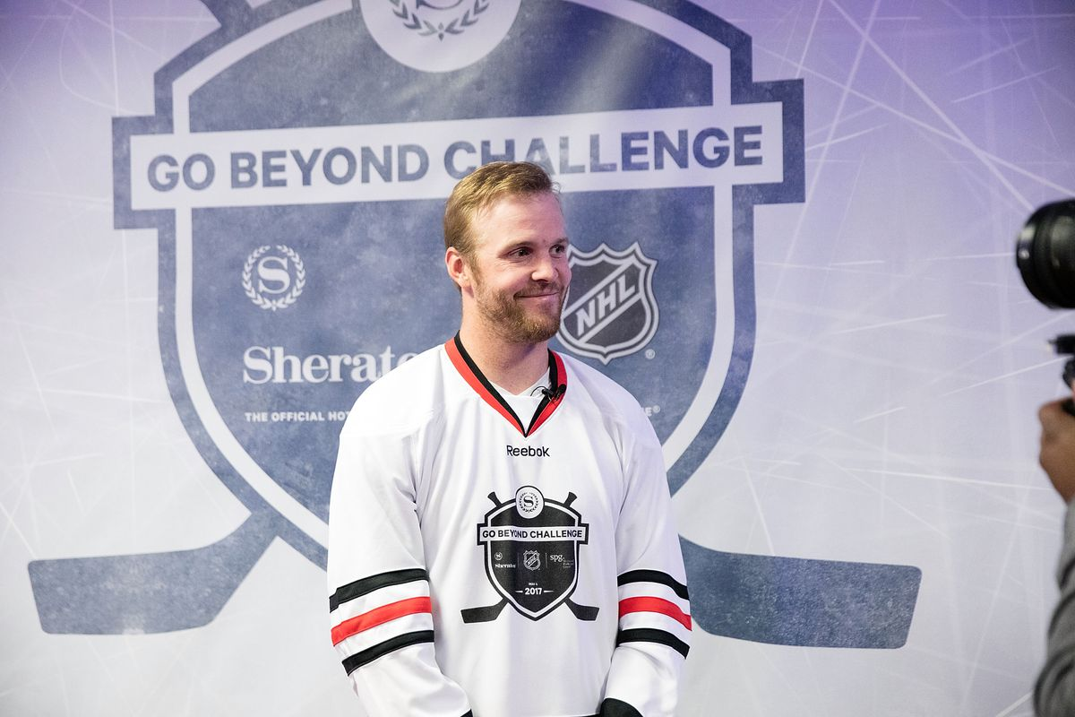 Sheraton Hotels & Resorts Host 'Go Beyond' Challenge With NHL Alumni For Local Youth Hockey Players At The Sheraton Grand In Chicago, IL
