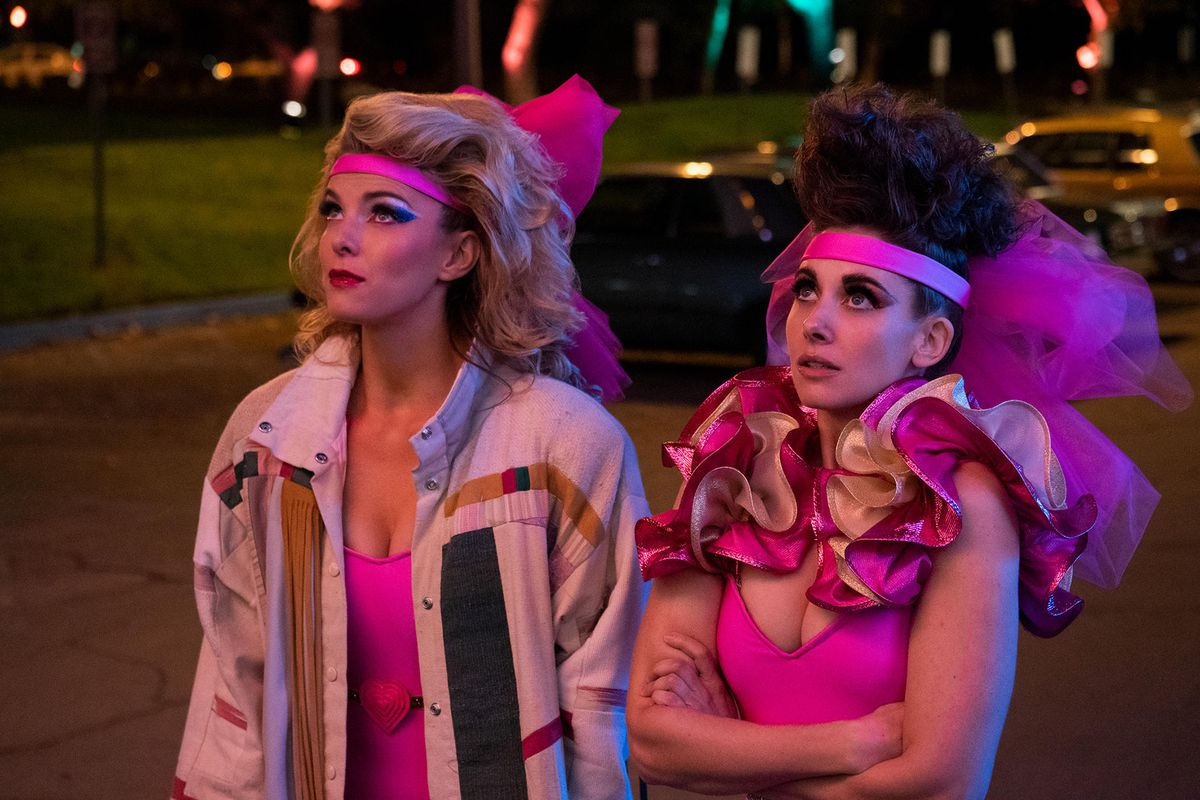 """Debbie """"Liberty Bell"""" Eagan (left) and Ruth """"Zoya the Destroya"""" Wilder (right) stand together in costume."""
