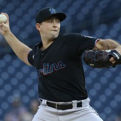 Cody Poteet, Marlins starting pitcher on Friday