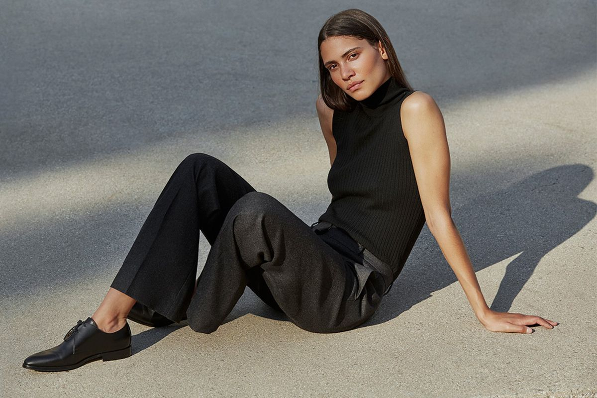 An outfit from Everlane's fall 2016 lookbook
