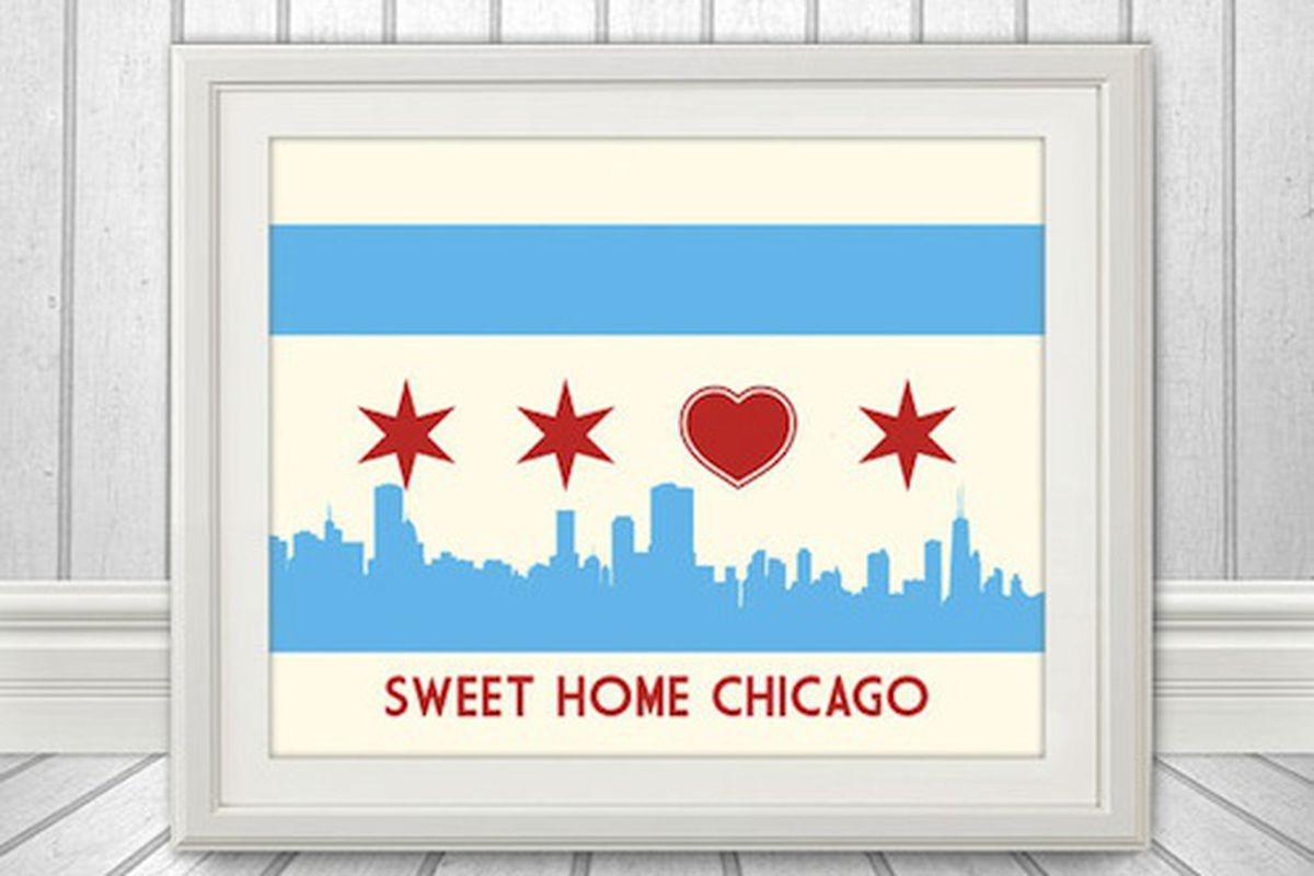 "Photo: via <a href=""http://www.etsy.com/listing/111537942/chicago-flag-with-skyline-heart-sweet?ref=market"">BentonParkPrints/ Etsy</a>"