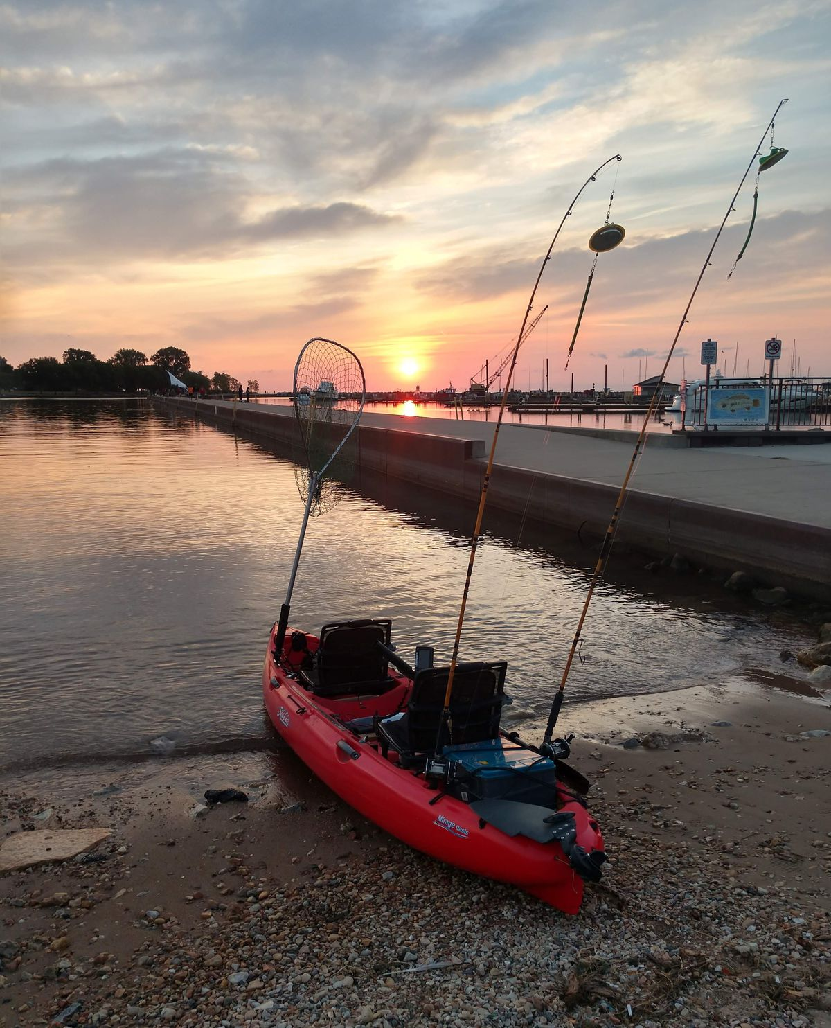 The two-person kayak that Matt Biggerstaff and his son Isaac fish out of at the ready. Provided photo