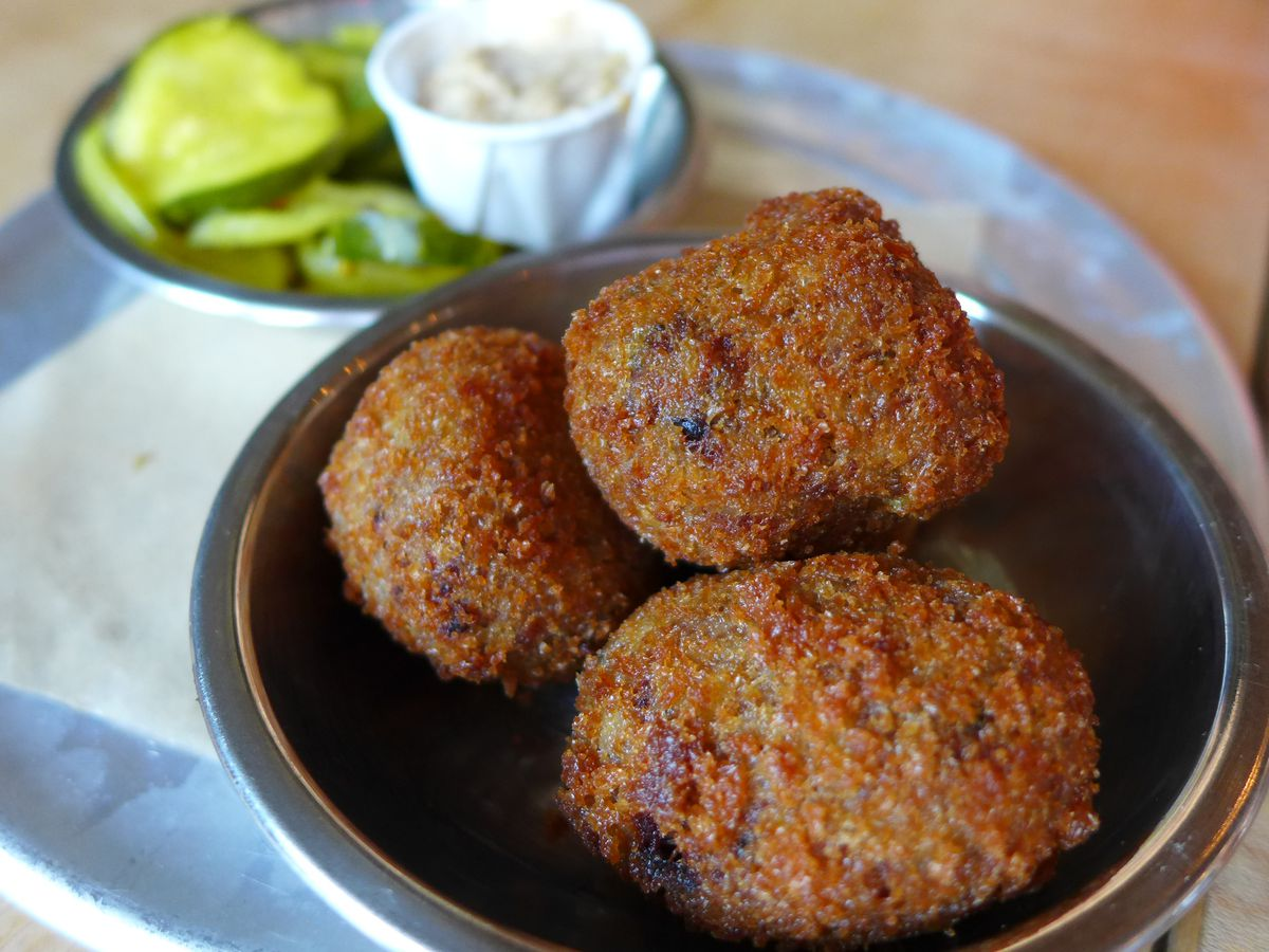 Boudin balls from Tchoup Shop at Heavy Woods