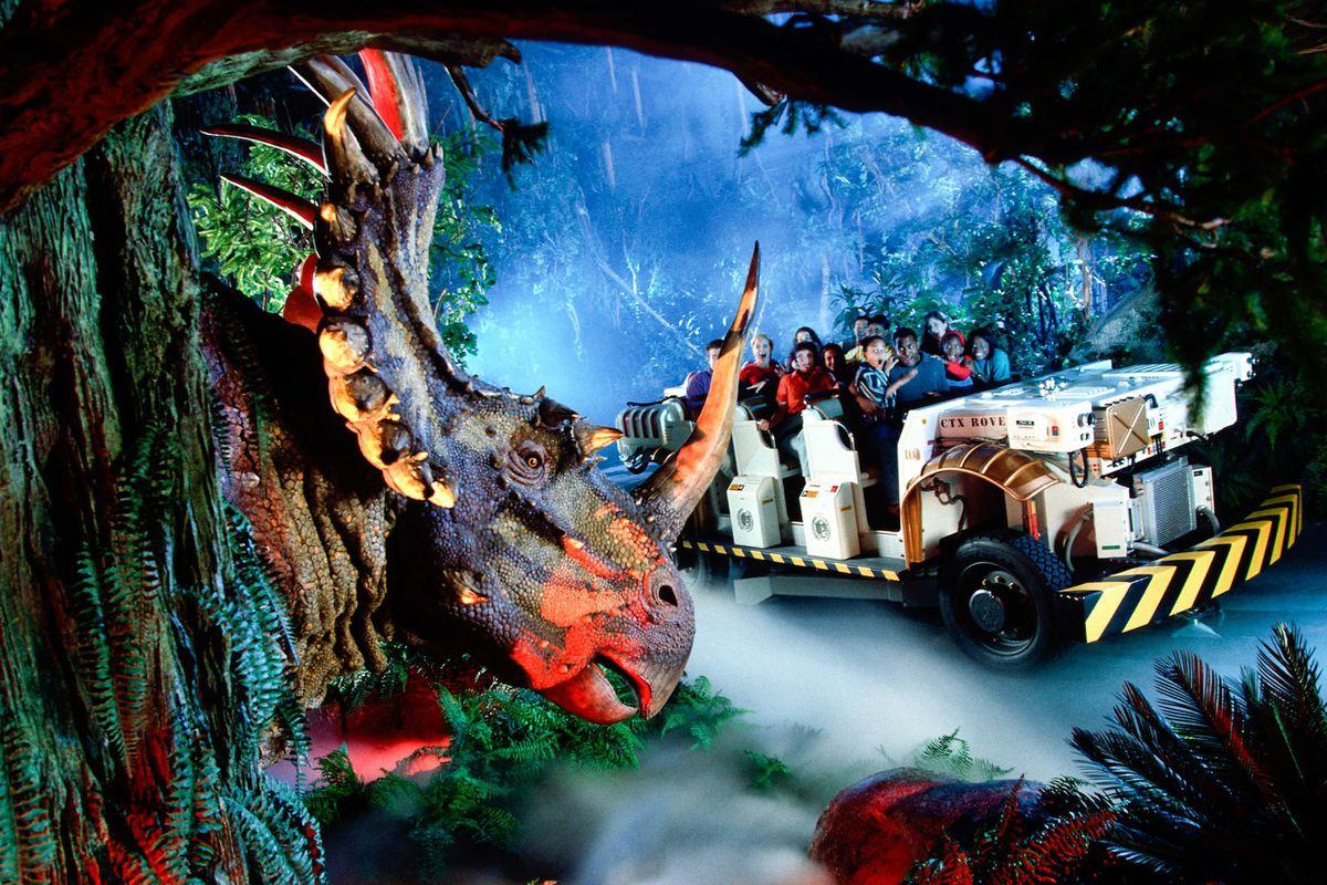 a moment in disney's dinosaur ride