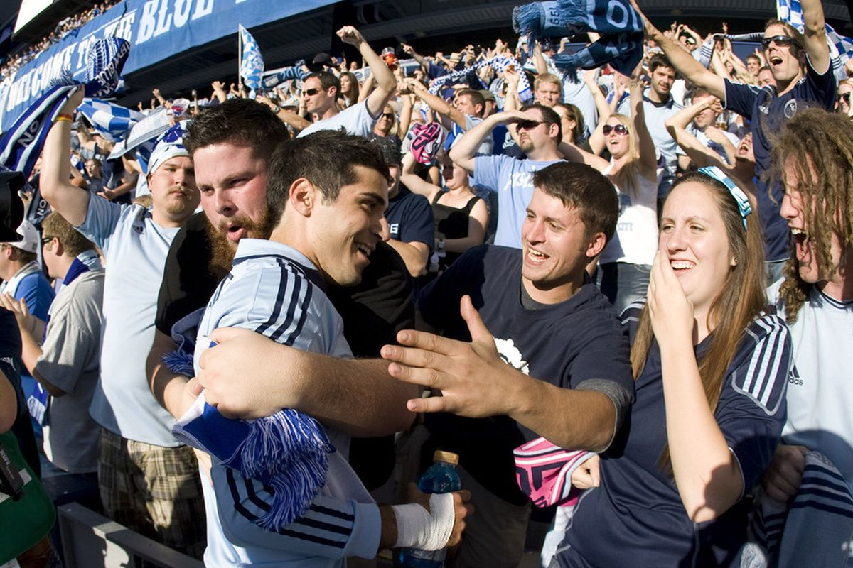 Soony Saad will be among the Sporting KC players that participate in today's reserve league match against Houston.  (Photo by Ed Zurga/Getty Images)