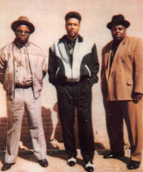 Gangster Disciples leader Larry Hoover (center) with top gang lieutenant Gregory Shell (left) and gang associate Keith McCain.