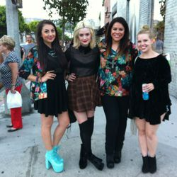 The Gypsy Junkies team taking a break from their party at Kitson to cruise the street
