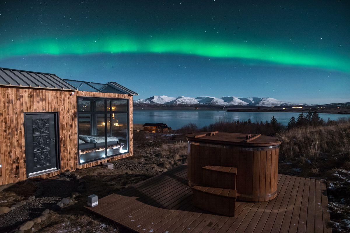 Miraculous Tiny Glass Cabin Offers The Ultimate Northern Lights Show In Download Free Architecture Designs Meptaeticmadebymaigaardcom