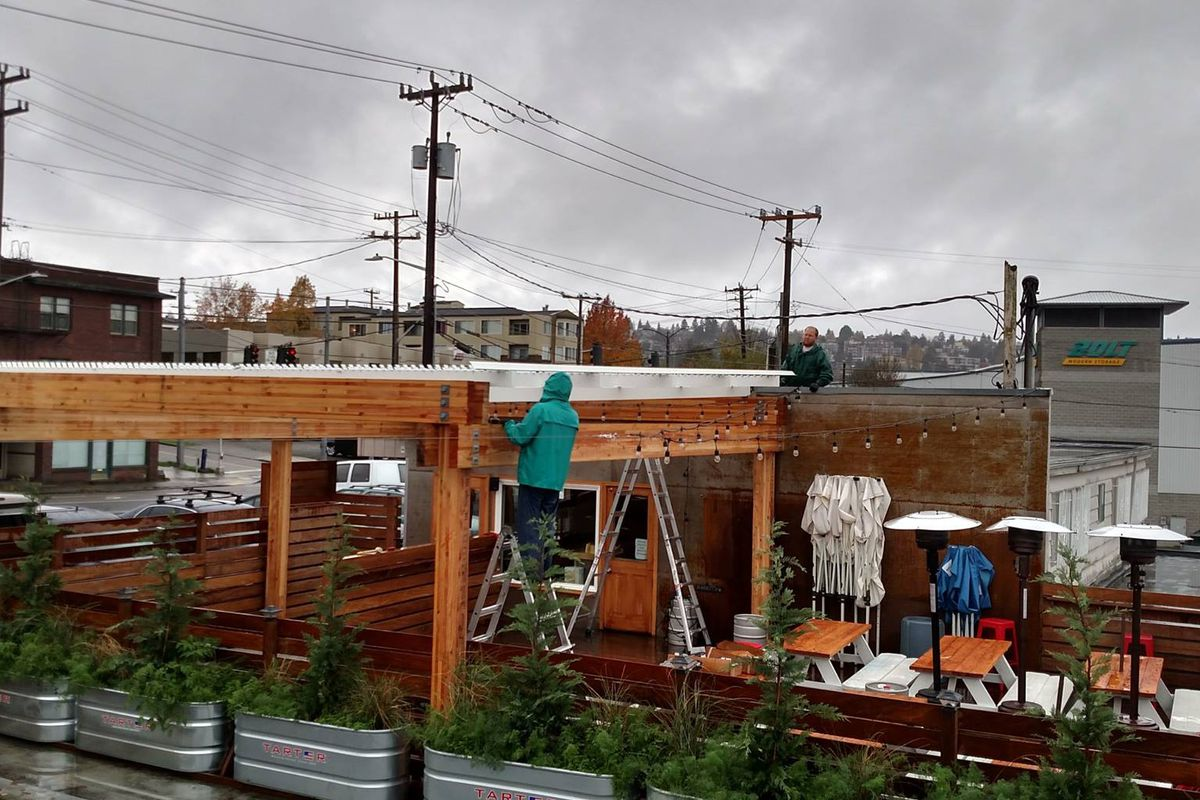 Rooftop gets ready for winter.
