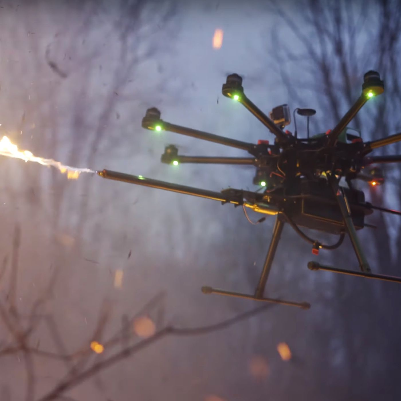 The flamethrower drone will soon be a thing you can buy