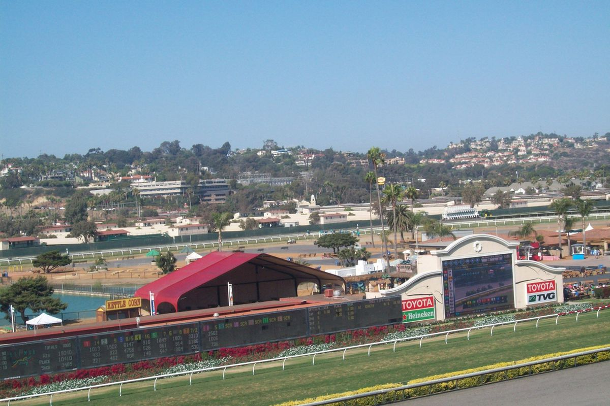 Del Mar Stretch Run 4 view from Friday (8/16/13)