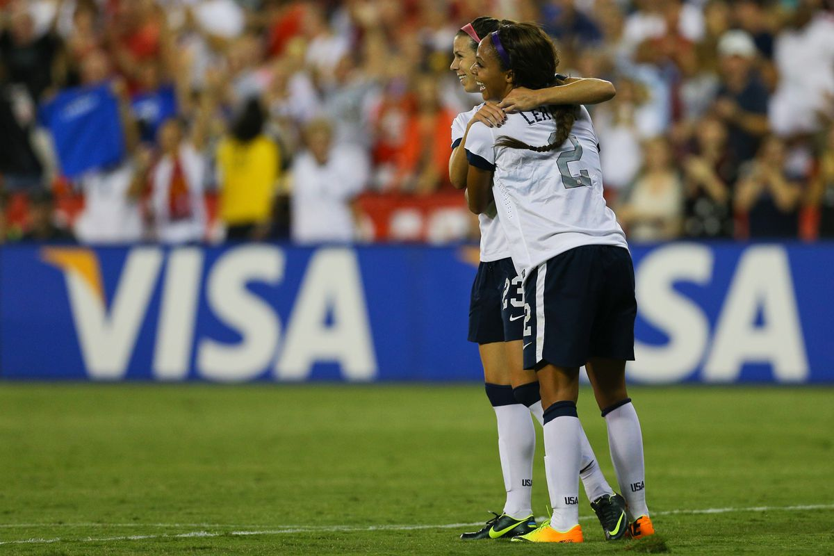 Breakers forward Sydney Leroux beat Mexico with four goals in just her sixth international start