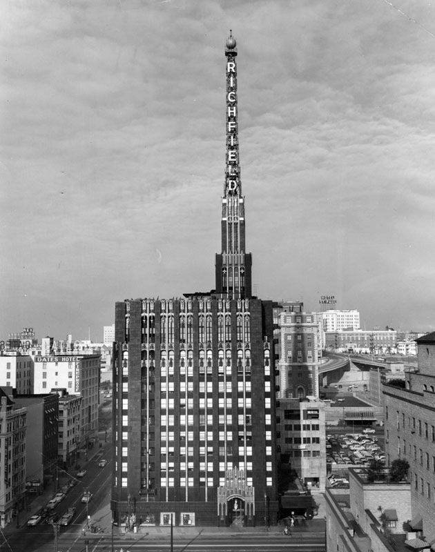 Richfield Building with spire