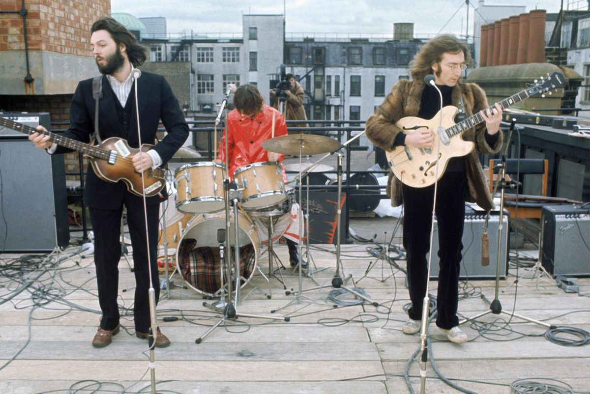 The Beatles' last concert ever, on the roof of Apple headquarters.