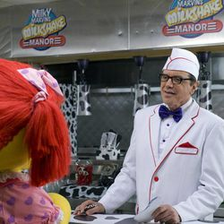 """This film image released by Kenn Viselman Presents, Inc. shows actor Chazz Palminteri portraying Marvin Milkshake in a scene from """"The Oogieloves in the Big Balloon Adventure."""""""