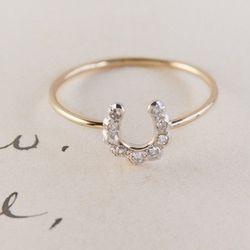 Horseshoe Ring, $500