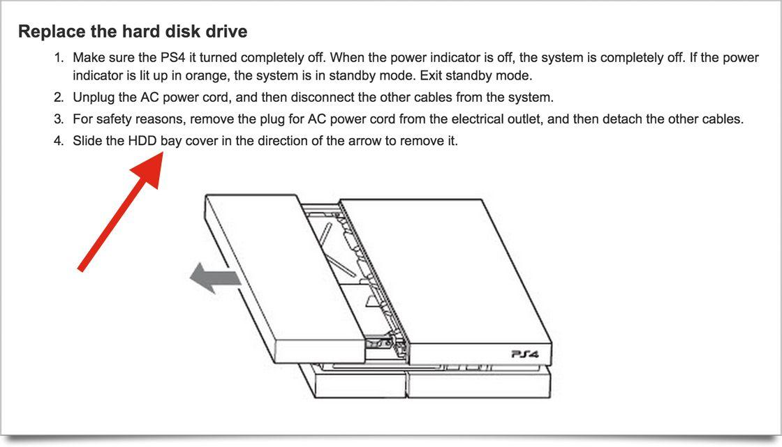 ps4 hard drive swap