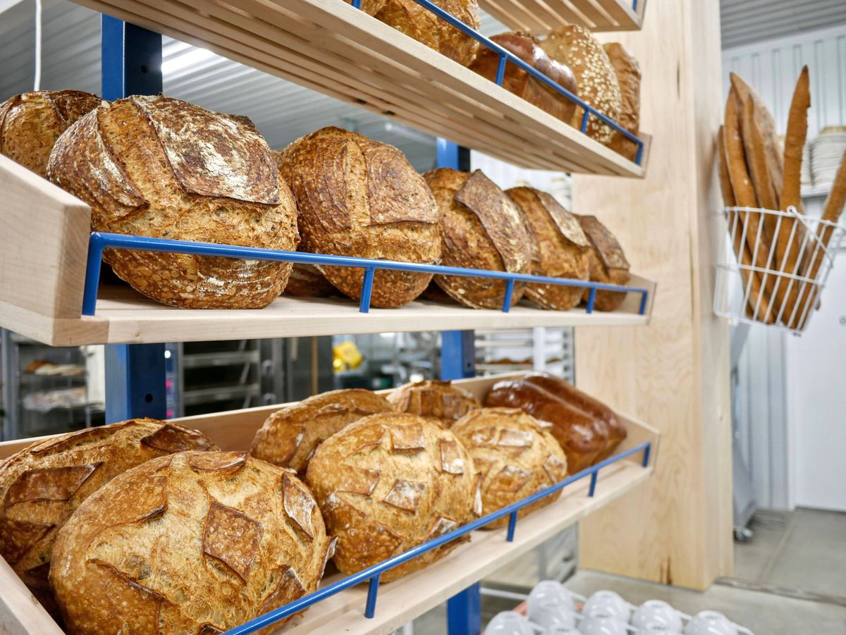 Display of breads
