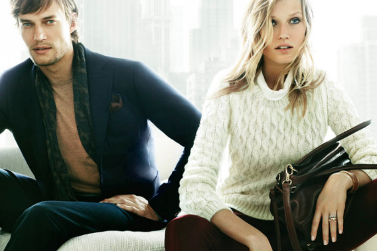 A look from Massimo Dutti's fall campaign