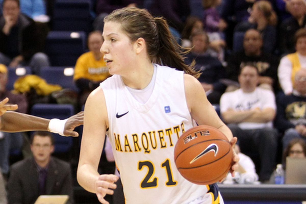Katherine Plouffe has opened the year with three straight double-doubles.