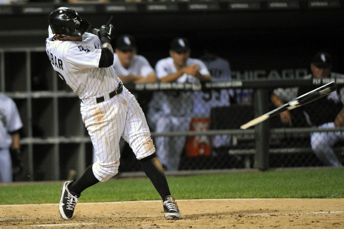 Tonight, this swing resulted in a single, and eventually a run.