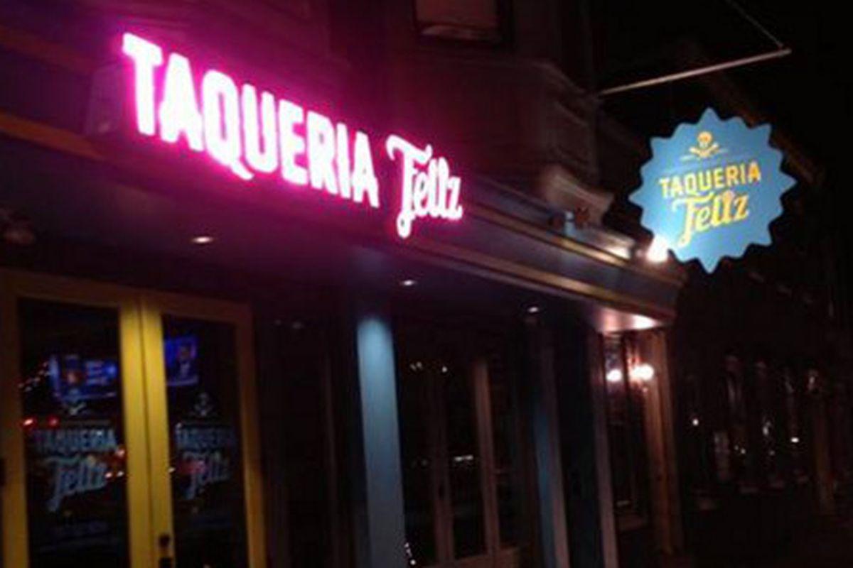 Taqueria Feliz gets a new sign