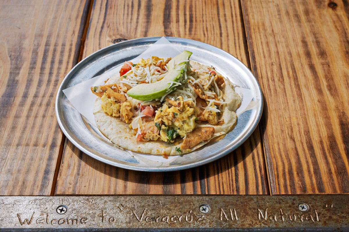 A taco from Veracruz All Natural