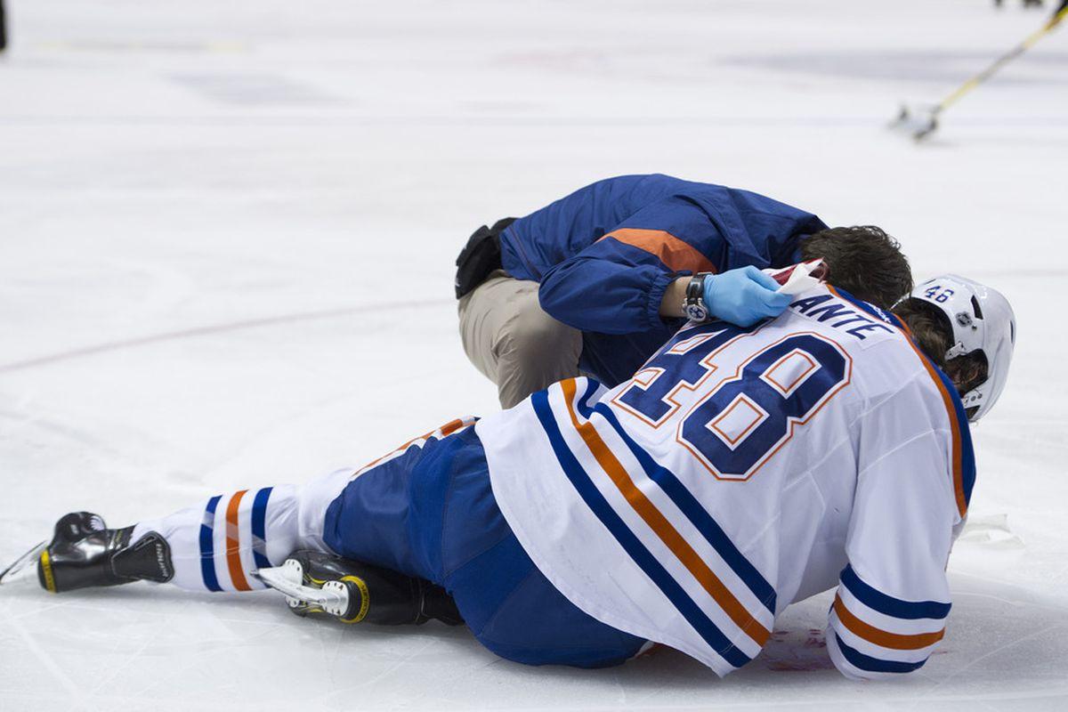 He's wearing an NHL uniform, so that's got to be progress.