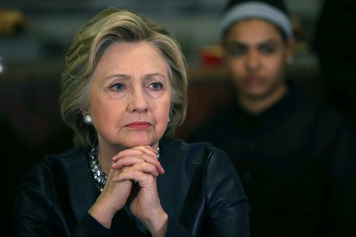 Hillary wasn't pleased with the compliment.