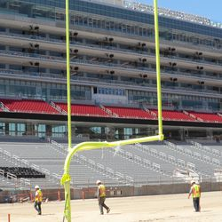 That suite tower is pretty massive. But with limited seats in front, it feels like you're right over the field