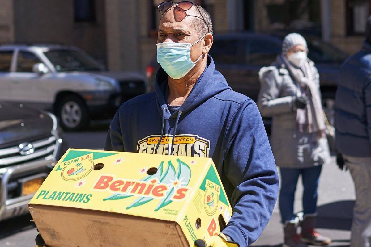 Members of Uplift NYC bring food supplies to people in Upper Manhattan and The Bronx during the coronavirus outbreak.