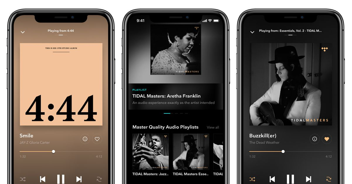 Tidal's Master quality recordings are now available on iOS - The Verge