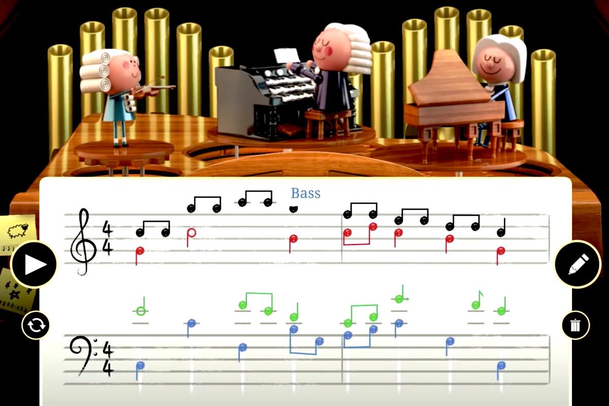 AI-powered Google Doodle celebrates Johann Sebastian Bach's birthday