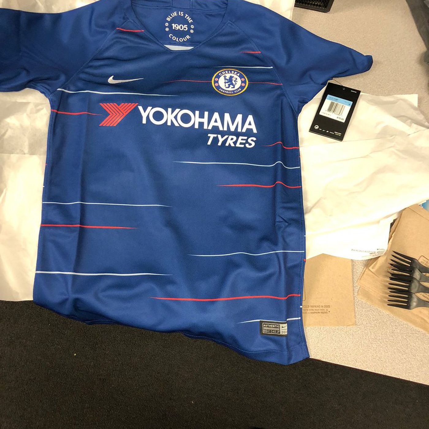 First picture of the new Nike 2018-19 Chelsea home kit - We Ain t Got No  History 0eae97881