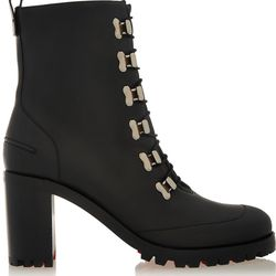The red serrated soles and skater-style speed hooks seal the deal on these boots from Louboutin.
