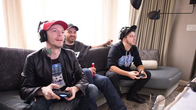 Deadmau5 takes on Typical Gamer in <em>Call of Duty: Black Ops 3</em> on May 1, 2016 in New York City.