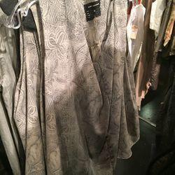 Battenburg lace sleeveless drape shirt, $140 (was $280)